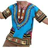 Amazon Price History for:Raan Pah Muang RaanPahMuang Unisex African Bright Dashiki Cotton Shirt Variety Colors