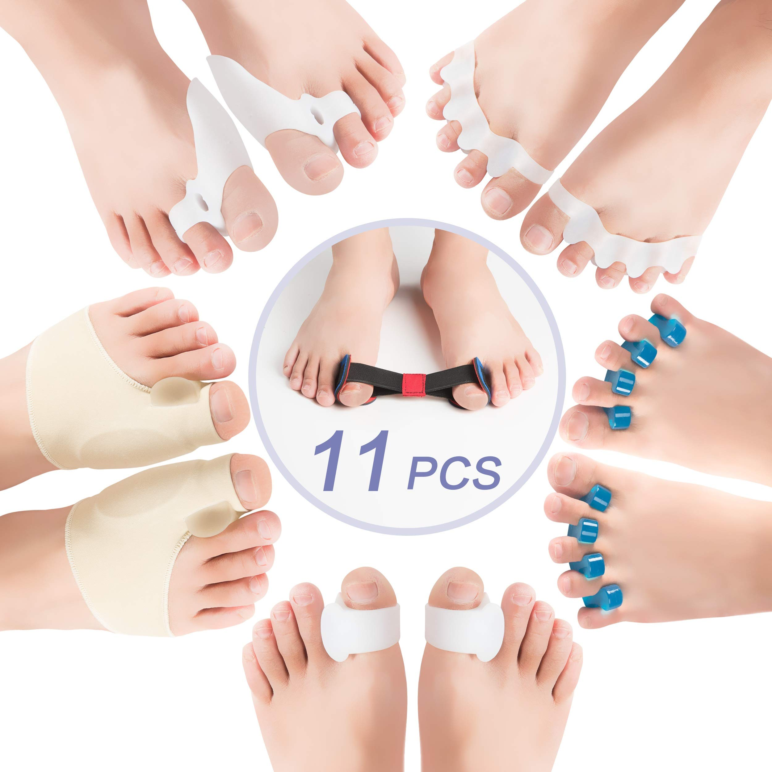 DR SelfCare-Orthopedic Hallux Valgus Bunion Corrector & Big Toe Relief for Women & Men | Gel Protector, Pain Treatment & Support | Tailor's Bunion - Hammer Toe Straightener Braces Spacer by DR SelfCare