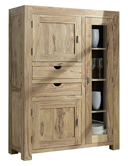 Uberlegen YOGA 6403 Highboard, Holz, 43 X 110 X 150 Cm, Natur: Amazon.de: Küche U0026  Haushalt