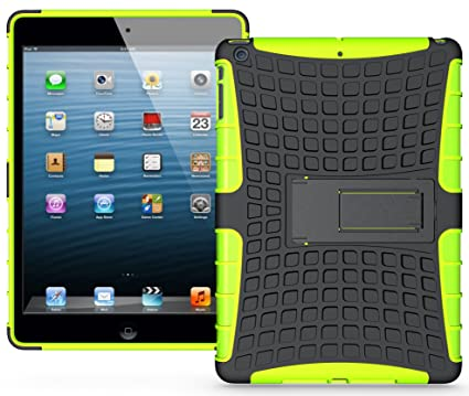 9ed68d8897af Image Unavailable. Image not available for. Color  Nakedcellphone NEON LIME  GREEN GRENADE TPU SKIN HARD CASE COVER STAND FOR iPAD AIR ...