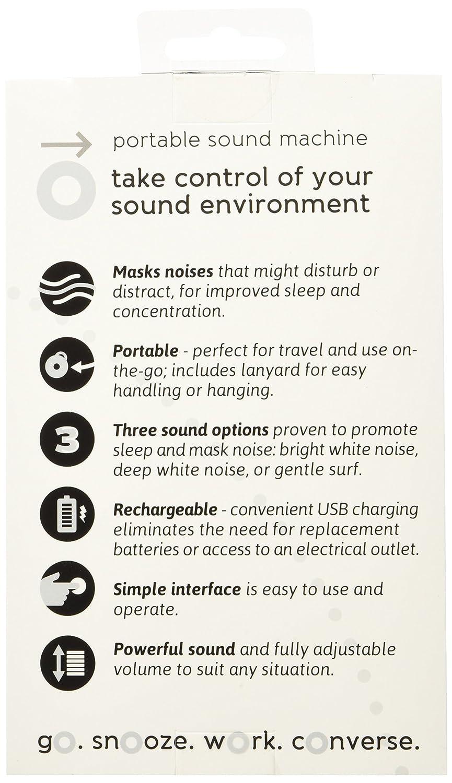 Marpac ruido blanco máquina portátil de sonido: Amazon.es: Salud y cuidado personal