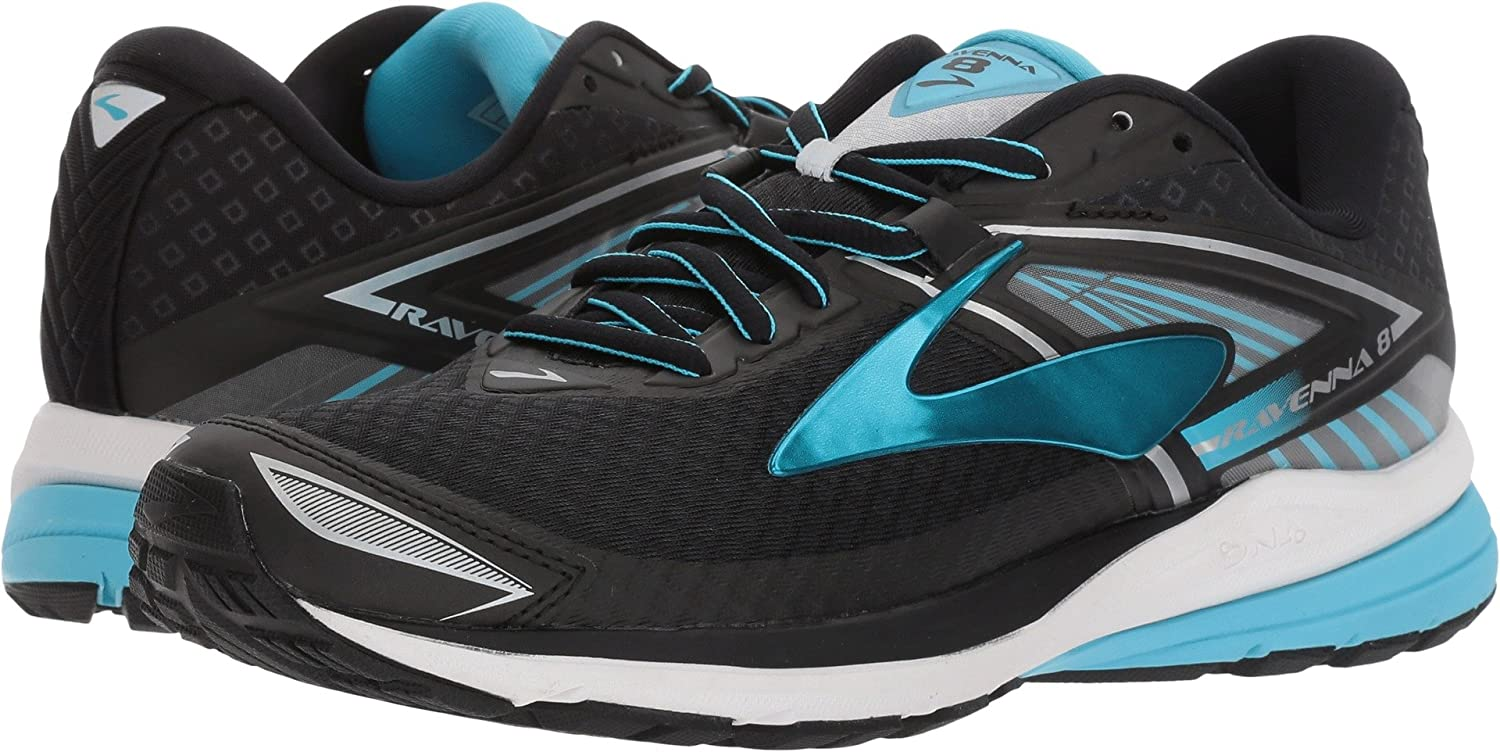 Brooks Women's Ravenna 8 B01MYBCBXS 9.5 B(M) US|Black/Silver/Aquarius
