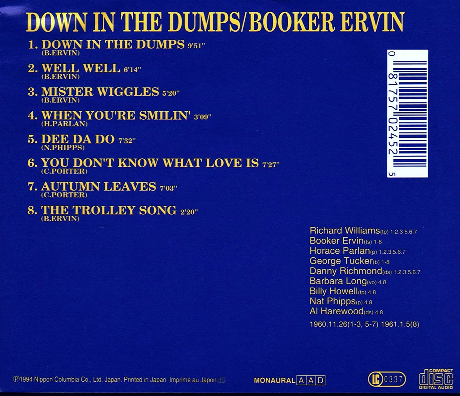 Down in the dumps song