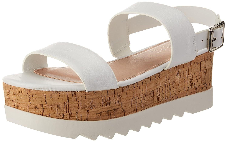 Madden Girl Women's Sugarr Wedge Sandal B078YM6C16 7.5 B(M) US|White Paris