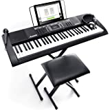 Alesis Melody 61 MKII - 61 Key Music Keyboard / Digital Piano with Built-In Speakers, Headphones, Microphone, Piano Stand, Mu