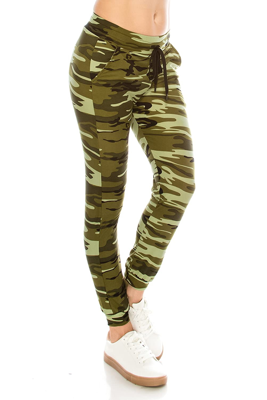 Jjog   4005 S   M Always Women Drawstrings Jogger Sweatpants  Camo Premium Soft Pockets Pants