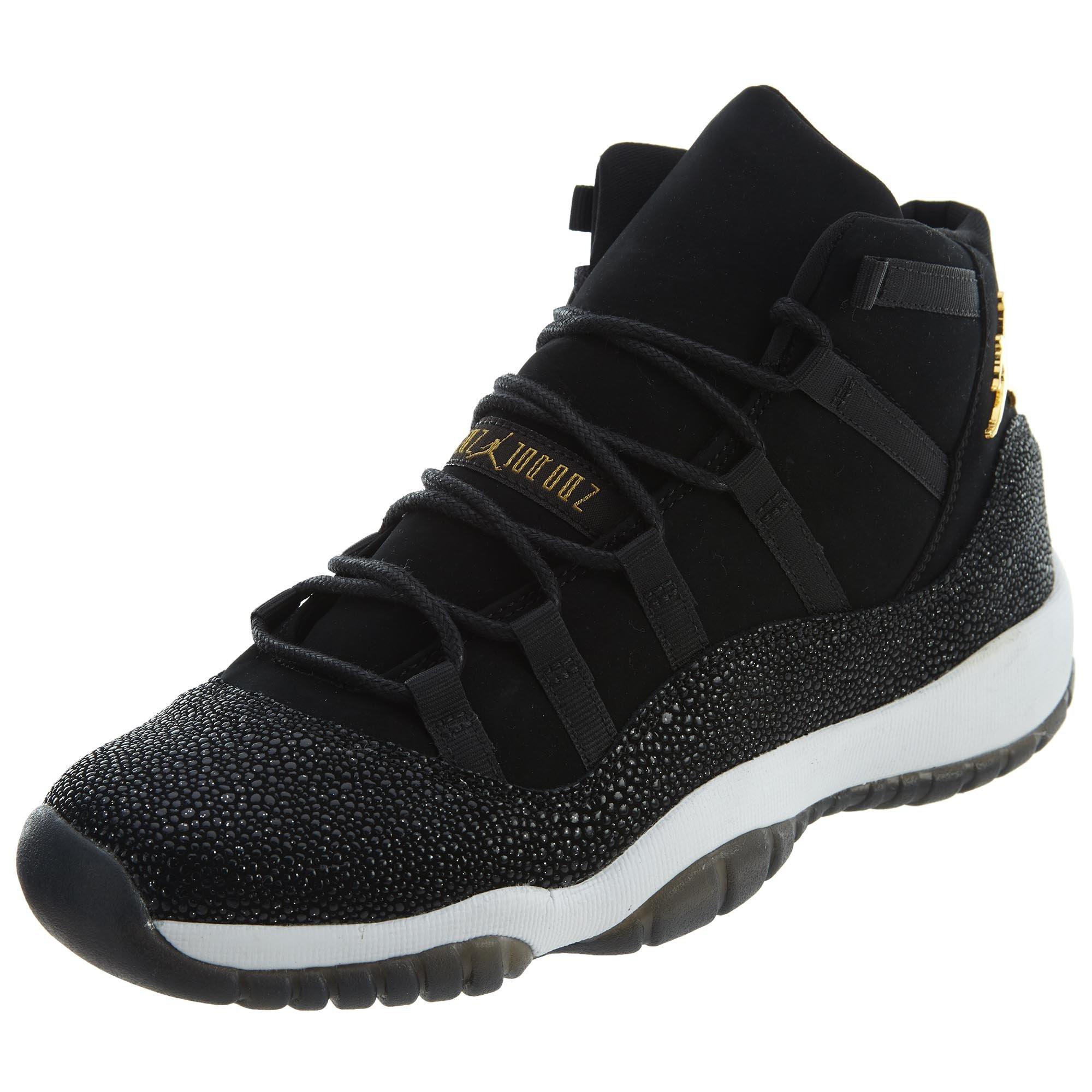 on sale 4e18a b0214 Galleon - Jordan Retro 11 Premium Heiress Stingray Black Metallic  Gold-White (Big Kid) (Youth Size 7.5)