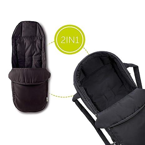 Hauck 2 in 1 Tragenest - Capazo blando 2 en 1, tejido suave y transpirable, lavable a mano, apto para sillas de paseo con arnés de seguridad, medidas ...