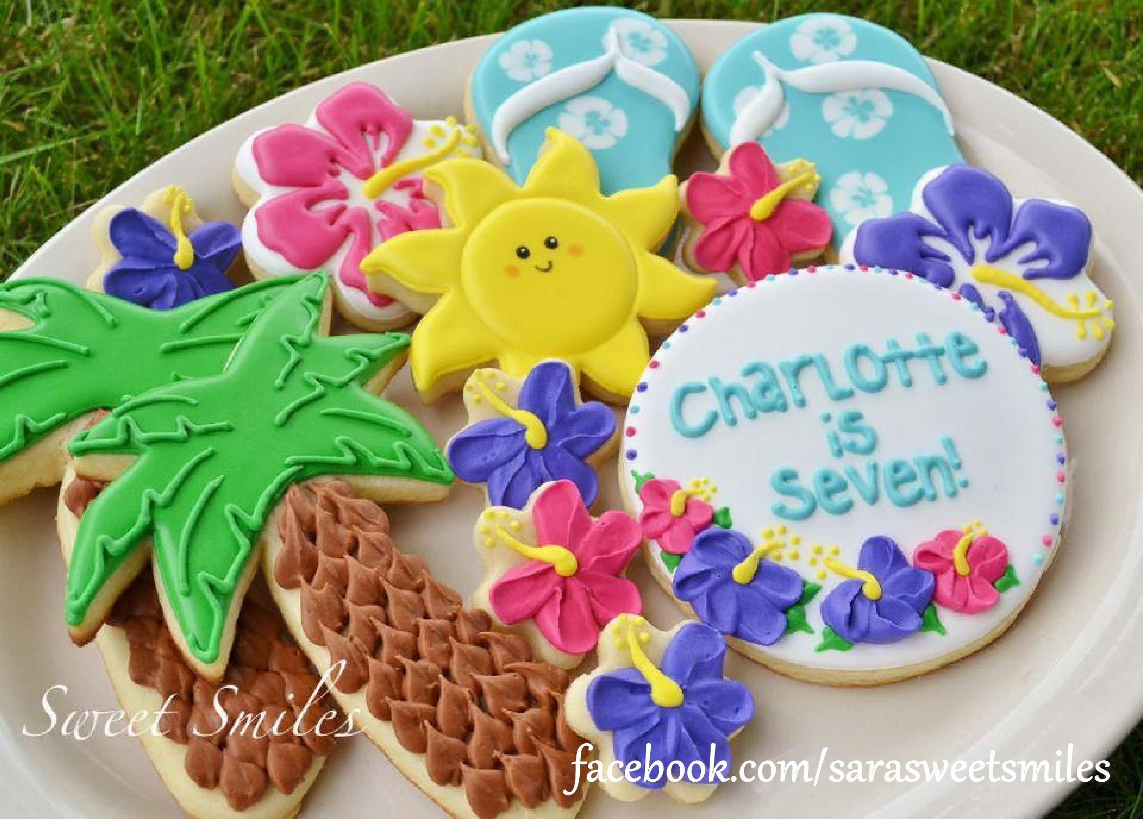 9 Piece Hawaiian Luau Hawaii Cookie Cutter Set