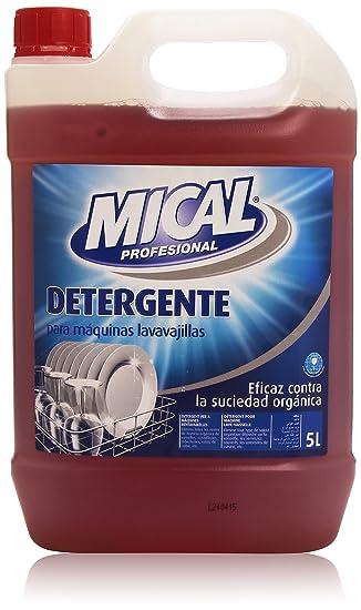 Mical Profesional - Detergente para máquinas lavavajillas - Eficaz contra la suciedad orgánica - 5 l