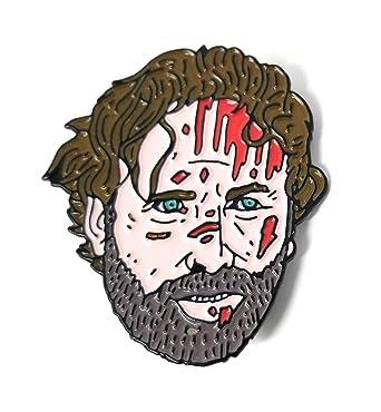 Beautiful Ltd Ed Walking Dead Bloody Rick Enamel Pin   Bam Box Exclusive By Nick  Cocozza