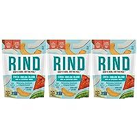 RIND Snacks Coco-Melon Skin-On Dried Superfruit Snack, Organic Coconut, Watermelon, Cantaloupe, High Fiber, Vegan, Non-GMO, Antioxidants, 2.75oz 3 Pack