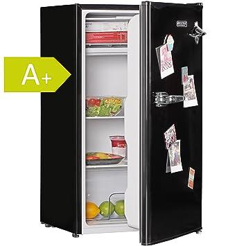 AMSTYLE Design Retro Minikühlschrank 95L schwarz A+ mit ...