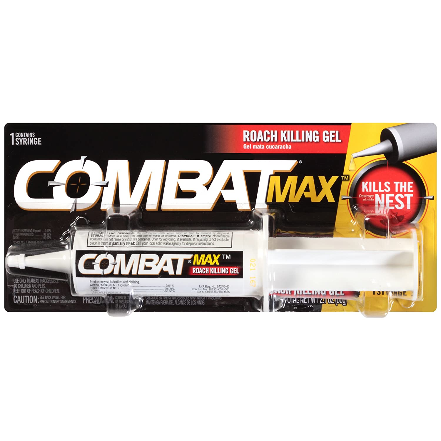 Amazon.com: Combat Source Kill Max Roach Gel, 30 Grams, Pack of 12: Industrial & Scientific