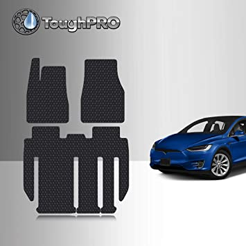 Heavy Duty All Weather 2020 TOUGHPRO Cargo//Trunk Mat Accessories Compatible with Tesla Model Y 5 Seater Custom Fit Black Rubber