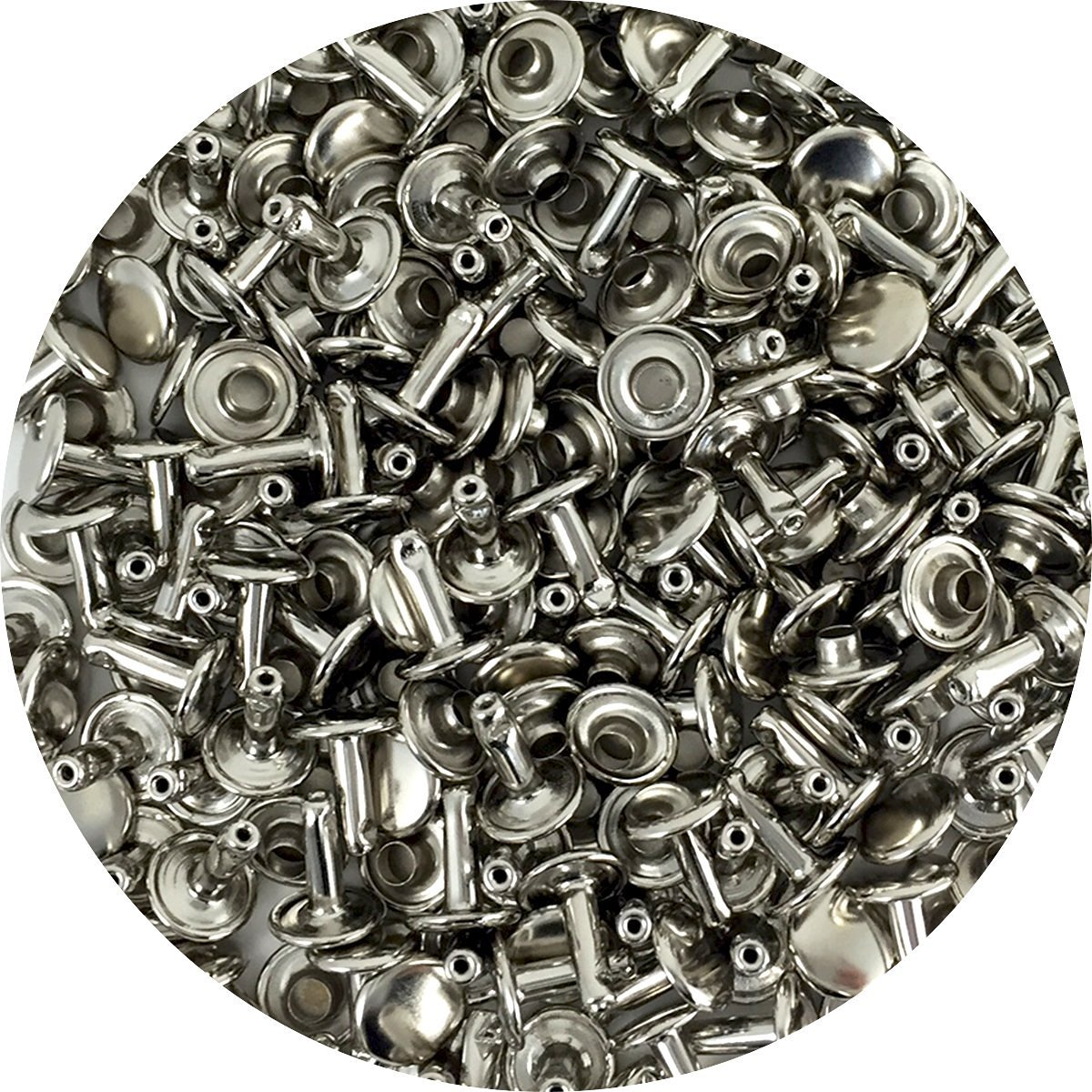 Springfield Leather Company's Nickel Plate Medium Double Cap Rivets 1000pk