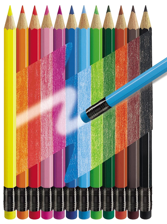 Faber-Castell 12 Erasable Colour Pencils: Amazon.co.uk: Office Products