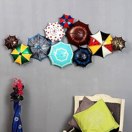 Buy The India Craft Aurora Coloralis Golden Artwork, Metal Umbrella ...