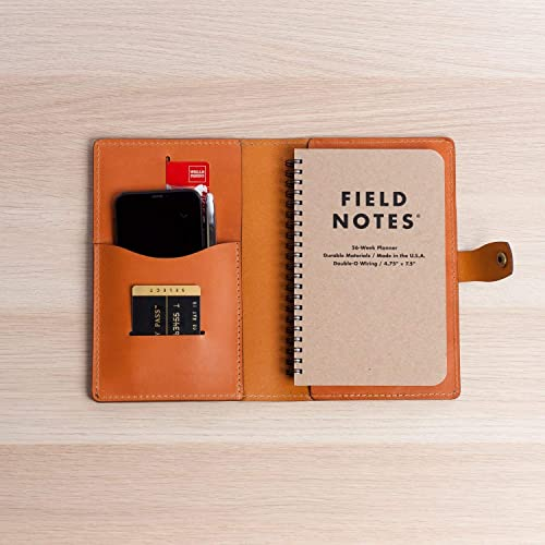 Amazon Com Leather Journal Cover For Field Notes Weekly Planner