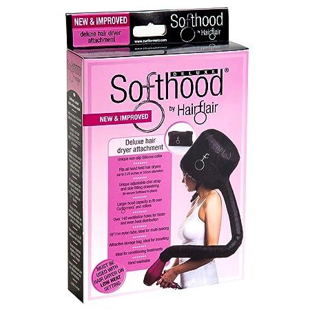 Hair Flair Softhood Deluxe - Trockenhaube für Haartrockner - Schwarz