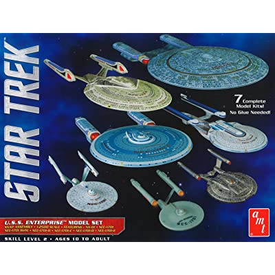 Round 2, LLC AMT 0954 1/2500 Star Trek USS Enterprise Box Set Snap: Toys & Games