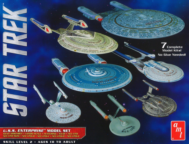 Amazon.com: AMT 0954 1/2500 Star Trek USS Enterprise Box Set Snap: Toys &  Games