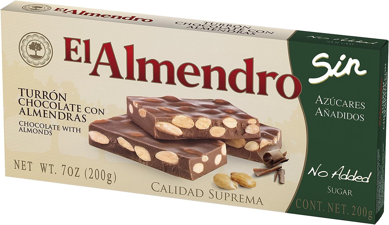 El Almendro Turrón de Chocolate con Almendras sin Azúcares ...