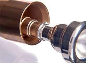 KGUBrass Custom Trumpet Mouthpiece Booster, Raw Brass - Limited Edition (Color: Raw brass   , Tamaño: CLASSIC   )