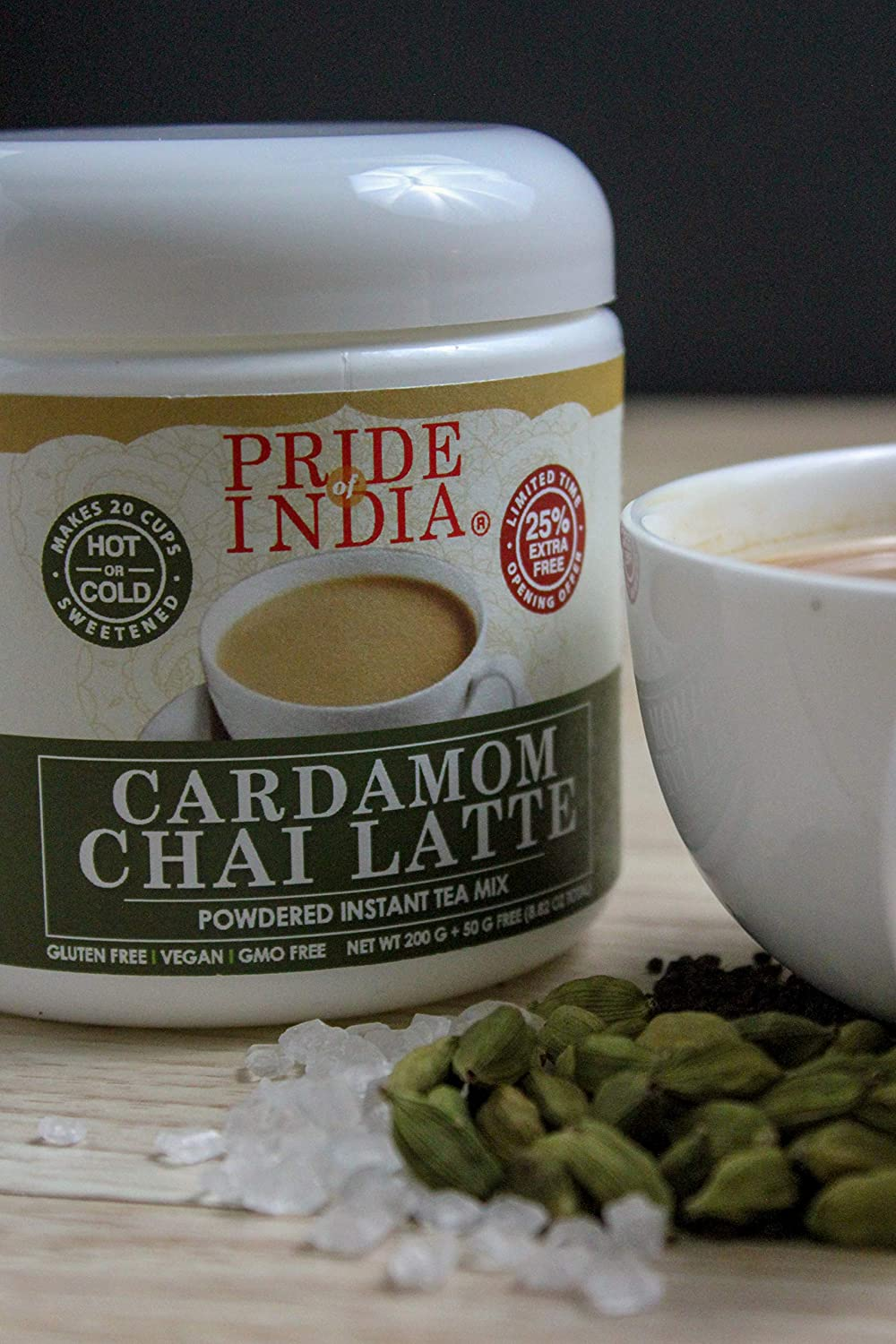 Pride Of India - Cardamom Chai Latte - Powdered Instant Tea