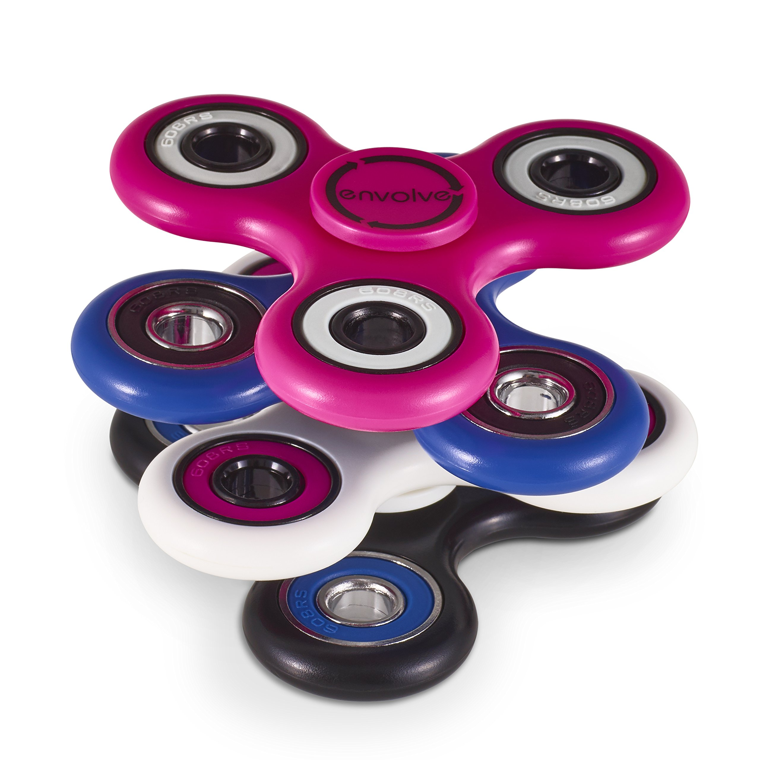Envolve Two Spinners Connected! Dual Stackable Fidget Spinner Set (blue/black) by, the Only STACK AND SPIN Fidget Spinner - Long spins 3-4 minutes (Great Gift Packaging) by Envolve (Image #5)
