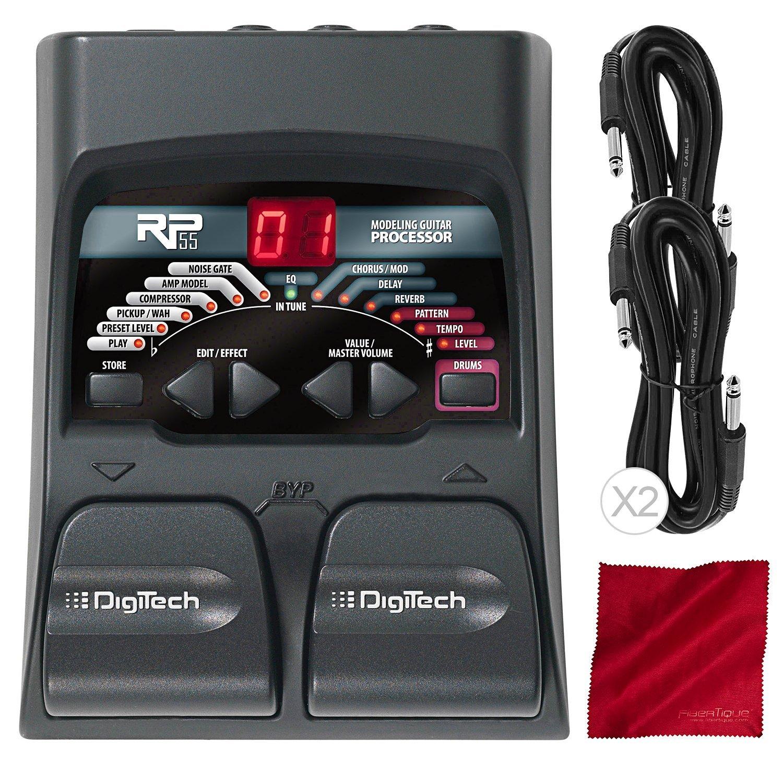 DigiTech RP55 Guitar Multi-Effects Processor with Accessory Bundle