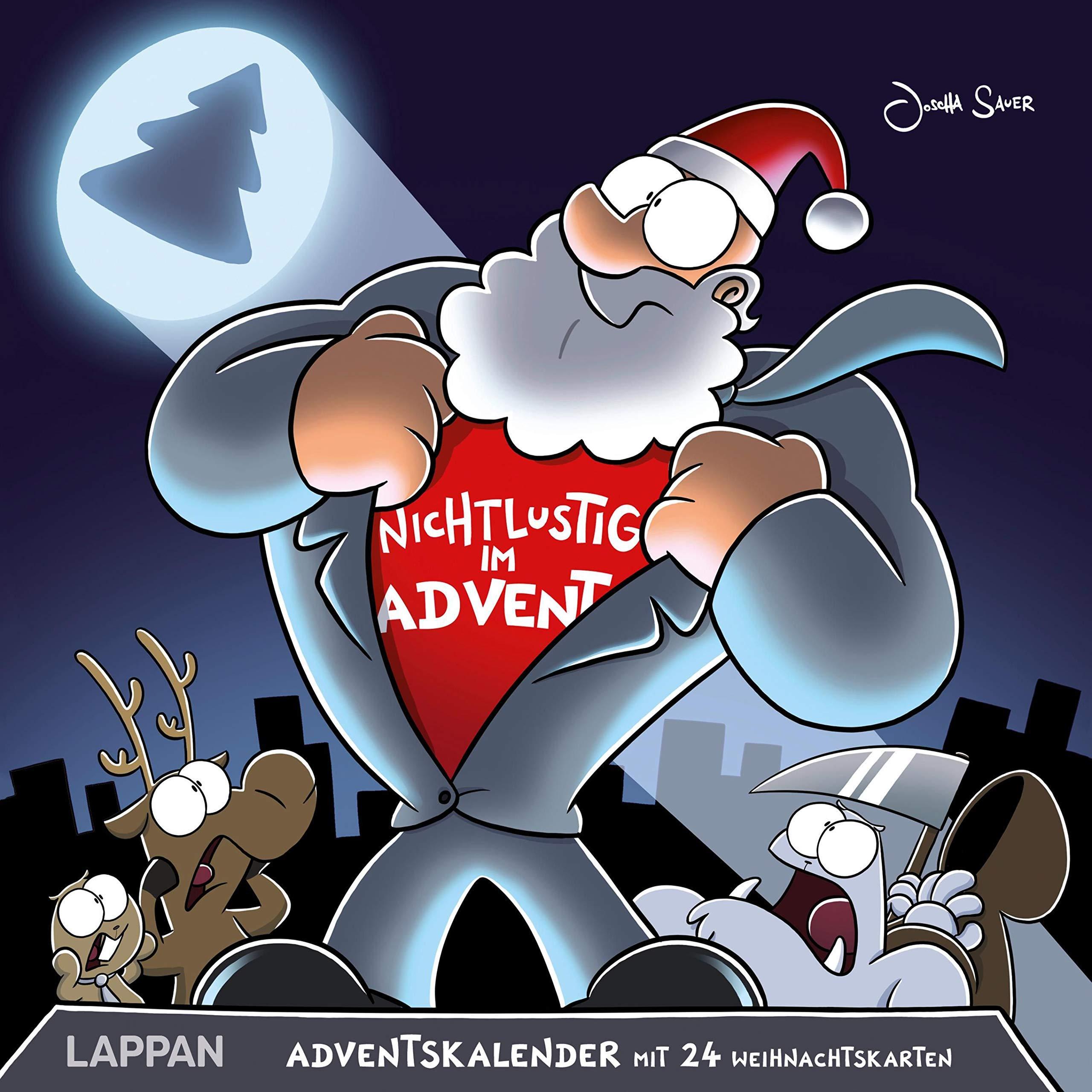 Nichtlustig im Advent: 24 Cartoon-Weihnachtskarten! Kalender – 27. Juli 2018 Joscha Sauer Lappan 3830377037 HUMOR / General