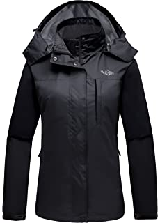 e33c7dee2 Wantdo Women's Mountain Windproof Rain Jacket Breathable Hooded Windbreaker  Outdoor Lightweight Raincoat for Camping Hiking