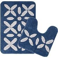 Saral Home Soft Cotton Bathmat Set with Contour (Pack of 2, 40x60 cm)