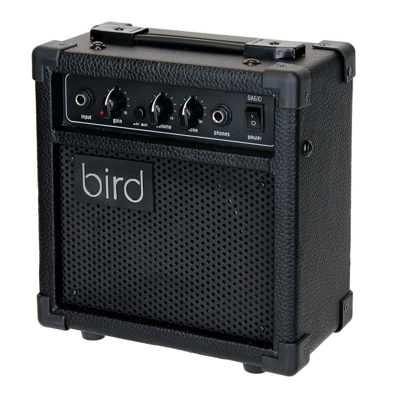 Bird GA Amp eléctrica Guitarra Negro