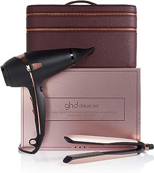 ghd – Set Royal dynasty Deluxe, con platinum+ Styler y secador, con estuche de lujo, edición limitada, color oro rosa: Amazon.es: Salud y cuidado personal