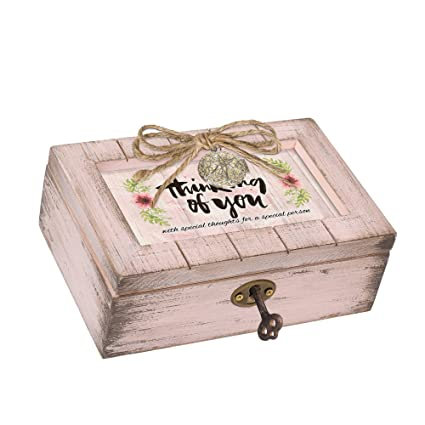 Cottage Garden Sister Love Heart Silver Tone Jewel Beaded Petite Music Box Plays You Light Up My Life
