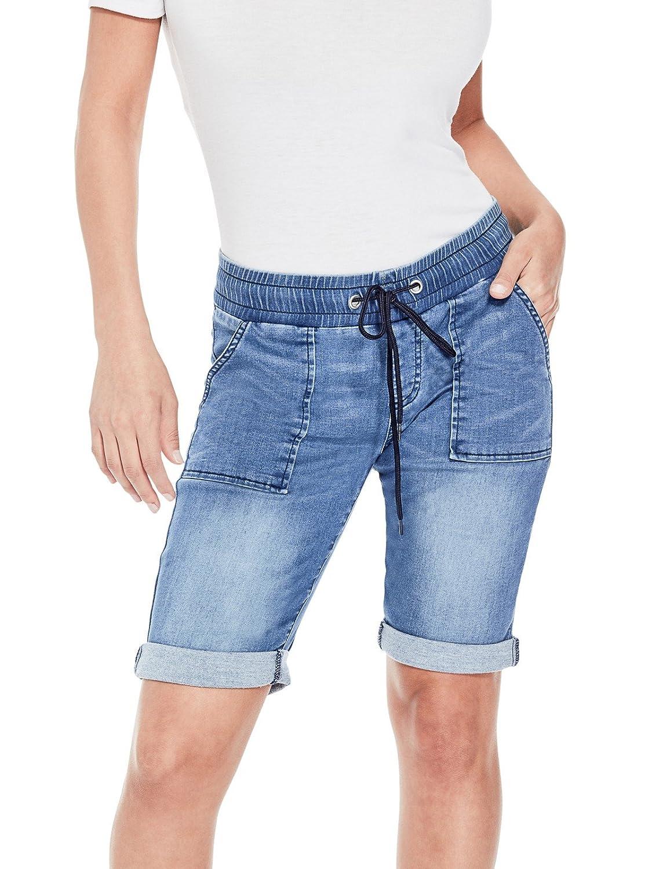 Guess Factory Women's Kora Denim Bermuda Shorts GuessFactory