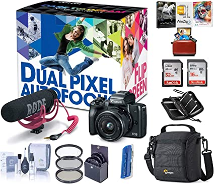 Amazon.com: Canon EOS M50 - Kit de creador de vídeo sin ...