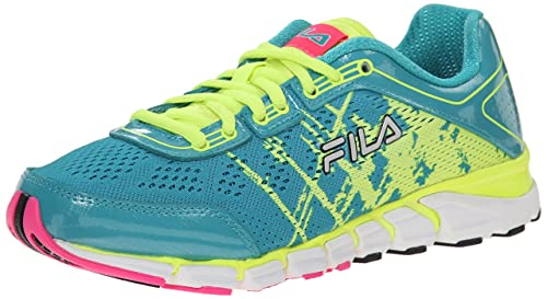 FilaTURBO Fuel Energized-W - Turbo Fuel Energized-Mujer para Mujer, (Baltic/Safety Yellow/Knock out Pink), 8 B(M) US: Amazon.es: Zapatos y complementos
