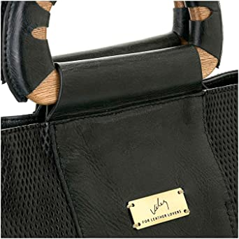 Amazon.com: Velez Womens Beautiful Genuine Colombian Leather Handbags Reusable Tote Shop Bags | Carteras y Bolsos de Cuero Colombiano para Mujeres Black: ...