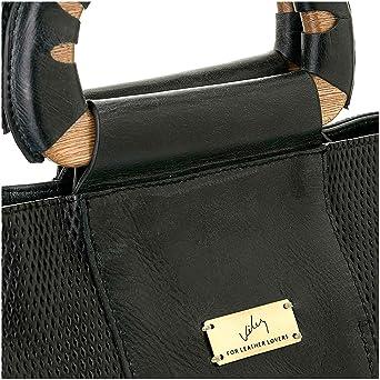 Amazon.com: Velez Womens Beautiful Genuine Colombian Leather Handbags Reusable Tote Shop Bags | Carteras y Bolsos de Cuero Colombiano para Mujeres Black: ...