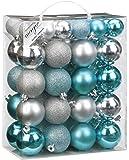 Inge-glas 7702156-MO Kunststoff-Kugelbox 50 teilig, 18 x 4 und 32 x 6 cm, Iceblue-Mix