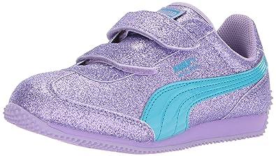 9eabd55b4454 PUMA Girls  Whirlwind Glitz V Sneaker