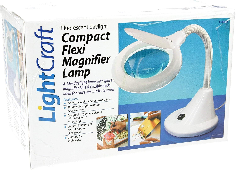 Compact Flexi Magnifier Lamp