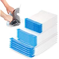 20 Pack Premium Vacuum Storage Bags, Space Savers - Reusable Travel Roll Up Compression Bags (50cmx35cm) (60cmx40cm…
