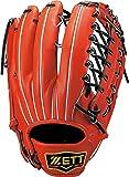 ZETT(ゼット) 野球 軟式 グラブ(グローブ) プロステイタス 外野手 右投用 ディープオレンジ/ブラック(5819) BRGB30817