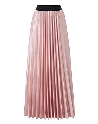 6f94941eeda Simply Be Womens Wet Look Sunray Pleat Maxi Skirt  Amazon.co.uk  Clothing