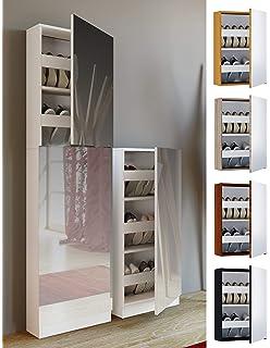 Habitdesign, Kristal 007866G - Armario zapatero con espejo ...