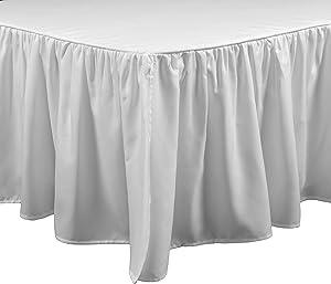 Brielle Stream Full Bed Skirt, White